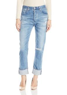 AG Adriano Goldschmied Women's Sloan Destructed Jeans