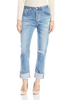 AG Adriano Goldschmied Women's Sloan Destructed Jeans