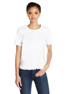 AG Adriano Goldschmied Women's Tawny Short Sleeve White Denim Tee