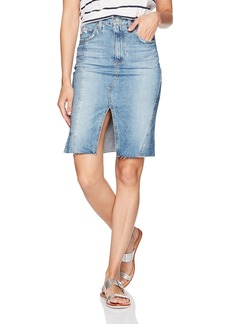 AG Adriano Goldschmied Women's The Emery Jean Skirt-Repurposed 18 Years-Blue Fawn