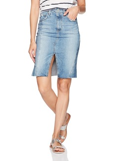 AG Adriano Goldschmied Women's The Emery Jean Skirt-Repurposed 18 Years-Blue Fawn 28