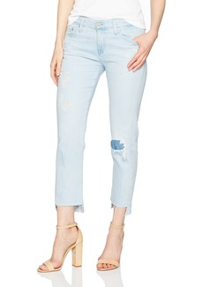 AG Adriano Goldschmied Women's the Ex Boyfriend Slim Jean Uneven Hem