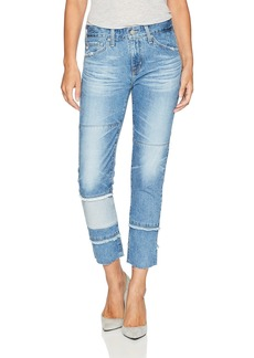 AG Adriano Goldschmied Women's The Ex-Boyfriend Slim-repurposed Jean 18 Years-Blue Mosque