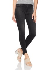 AG Adriano Goldschmied Women's the Farrah Skinny Ankle-Repurposed Black Jean