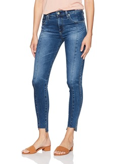 AG Adriano Goldschmied Women's The Farrah Skinny Ankle-Repurposed Jean 10 Years-Rhythmic Blue