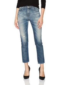 AG Adriano Goldschmied Women's the Isabelle High Rise Crop Jean 23 Years-Wind Worn