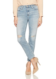 AG Adriano Goldschmied Women's Isabelle High Rise Straight Crop Jean