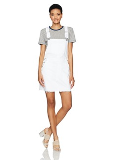AG Adriano Goldschmied Women's the Kaitlyn Overall Skirt Raw Hem