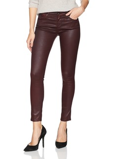 AG Adriano Goldschmied Women's The Legging Ankle Leatherette Lt-Deep Currant