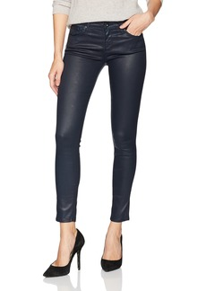 AG Adriano Goldschmied Women's The Legging Ankle Leatherette Lt-Midnight Shadow