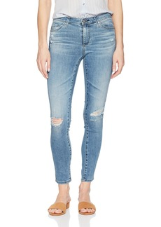 AG Adriano Goldschmied Women's The Legging Ankle Super Skinny Jean sea Sprite Destructed