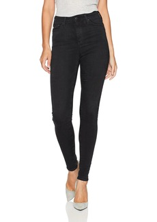 AG Adriano Goldschmied Women's The Mila High Rise Full Length Skinny Jean 3 Years-Obsidian
