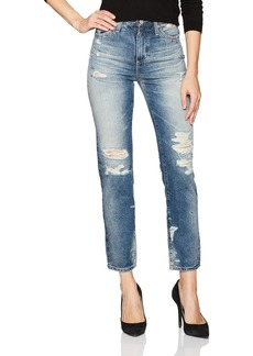AG Adriano Goldschmied Women's the Phoebe Embroidered Vintage High Rise Jean 23 Years-Woven Dream