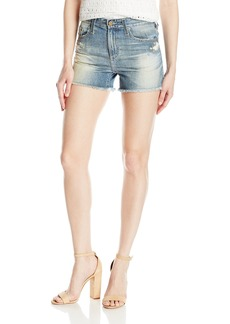 AG Adriano Goldschmied Women's The Sadie High Rise Jean Short Years lapse Mended
