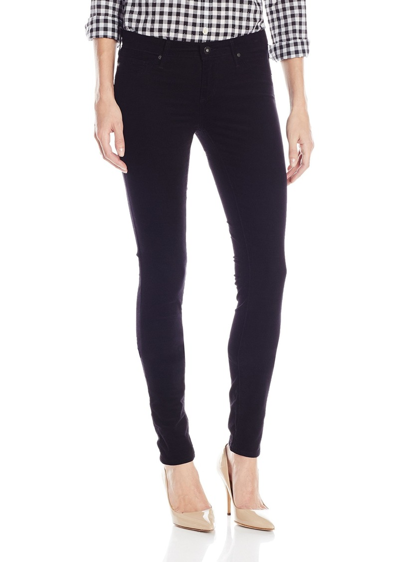 AG Adriano Goldschmied Womens Velvet Legging Ankle Moto