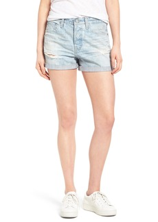 AG 'Alex' High Rise Cuffed Denim Shorts (22 Years Fearless)