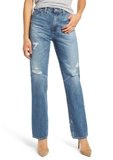 AG Adriano Goldschmied AG Alexxis Distressed High Waist Straight Jeans (17 Years Movement)