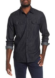 AG Adriano Goldschmied AG Benning Chambray Slim Fit Utility Shirt