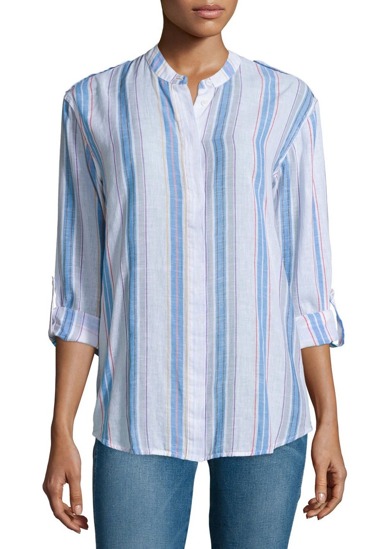 AG Adriano Goldschmied AG Briar Long-Sleeve Striped Shirt