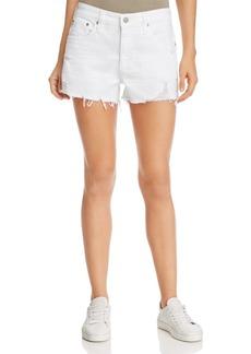 AG Bryn Denim Shorts in 5 Years Tattered White