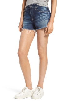 AG Bryn High Rise Cutoff Denim Shorts (15 Year Blue Deluge)