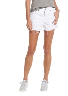 AG Adriano Goldschmied AG Bryn High Rise Cutoff Denim Shorts (5 Years Tattered White)