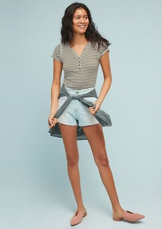 AG Bryn High-Rise Distressed Denim Shorts