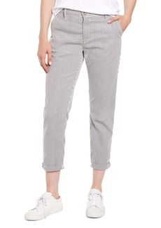 AG Adriano Goldschmied AG Caden Pinstripe Crop Twill Trousers