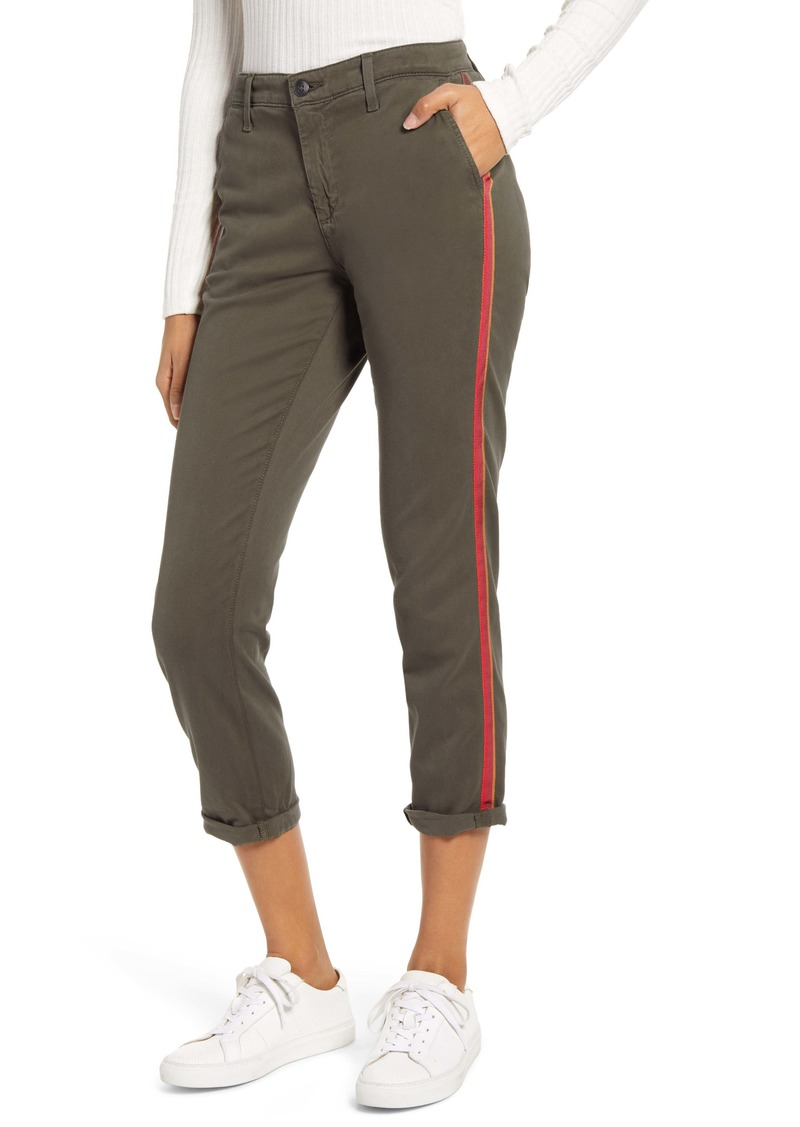 AG Adriano Goldschmied AG Caden Stripe Crop Twill Trousers