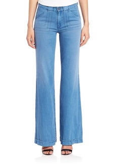 AG Carly Pintuck Wide Leg Jeans