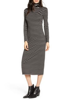 AG Adriano Goldschmied AG Chelden Long Sleeve Turtleneck Midi Dress