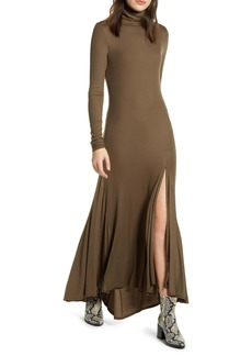 AG Adriano Goldschmied AG Chels Front Slit Long Sleeve Maxi Dress