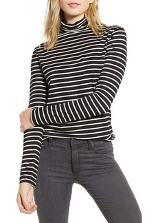 AG Adriano Goldschmied AG Chels Stripe Turtleneck Top