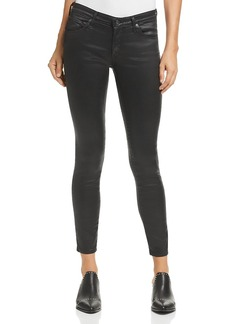 Ag Coated Legging Ankle Jeans in Charcoal