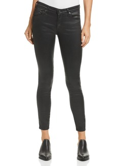 AG Adriano Goldschmied AG Coated Legging Ankle Jeans in Charcoal