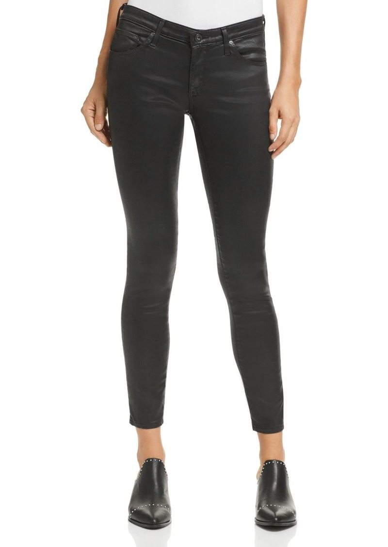 AG Adriano Goldschmied AG Coated Legging Ankle Jeans in Leatherette Super Black