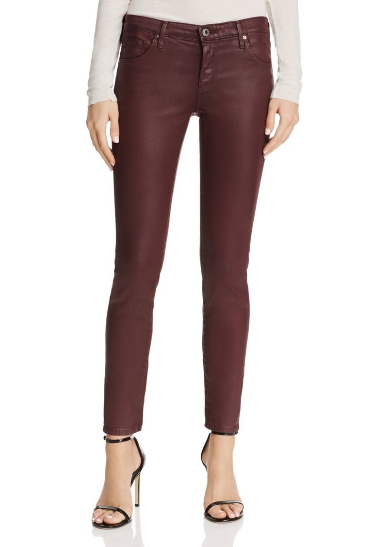 AG Adriano Goldschmied AG Coated Legging Ankle Jeans in Leatherette Light Deep Currant