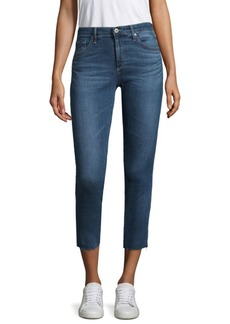 AG Adriano Goldschmied Cropped Mid-Rise Cigarette Jeans