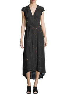 AG Adriano Goldschmied AG Daphne V-Neck Floral-Print Midi Dress