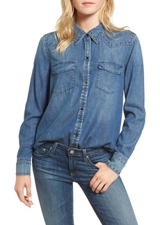 AG Adriano Goldschmied AG Deanna Studded Denim Shirt