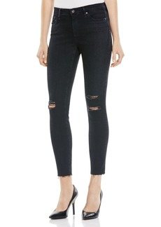 AG Destruct Midi Ankle Jeans in Black - 100% Bloomingdale's Exclusive