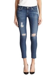 AG Adriano Goldschmied Distressed Legging Ankle Jeans