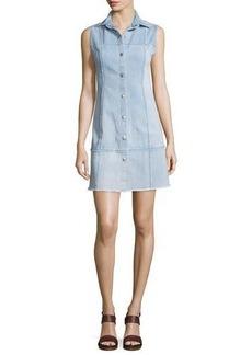 AG Effie Sleeveless Button-Front Shirtdress