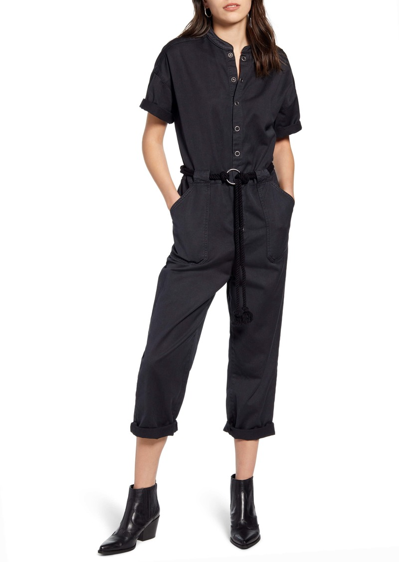 AG Adriano Goldschmied AG Emery Rope Tie Belt Cotton Jumpsuit