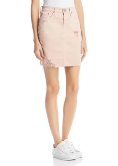 AG Adriano Goldschmied AG Erin Denim Skirt in 10 Years Weathered Rosy Rouge
