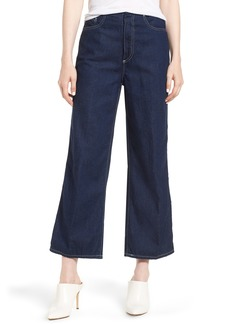 AG Adriano Goldschmied AG Etta High Waist Crop Wide Leg Jeans (Midnight Surge)