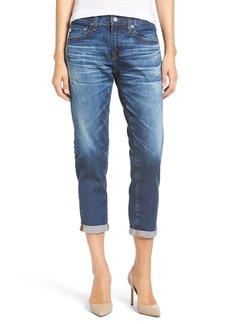 AG 'Ex-Boyfriend' Crop Slim Jeans (10 Year Wick)