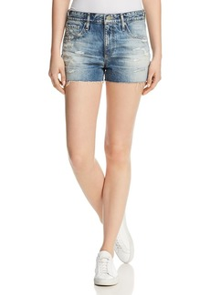 AG Adriano Goldschmied AG Ex-Boyfriend Cutoff Denim Shorts in 19 Years Quilted Blue