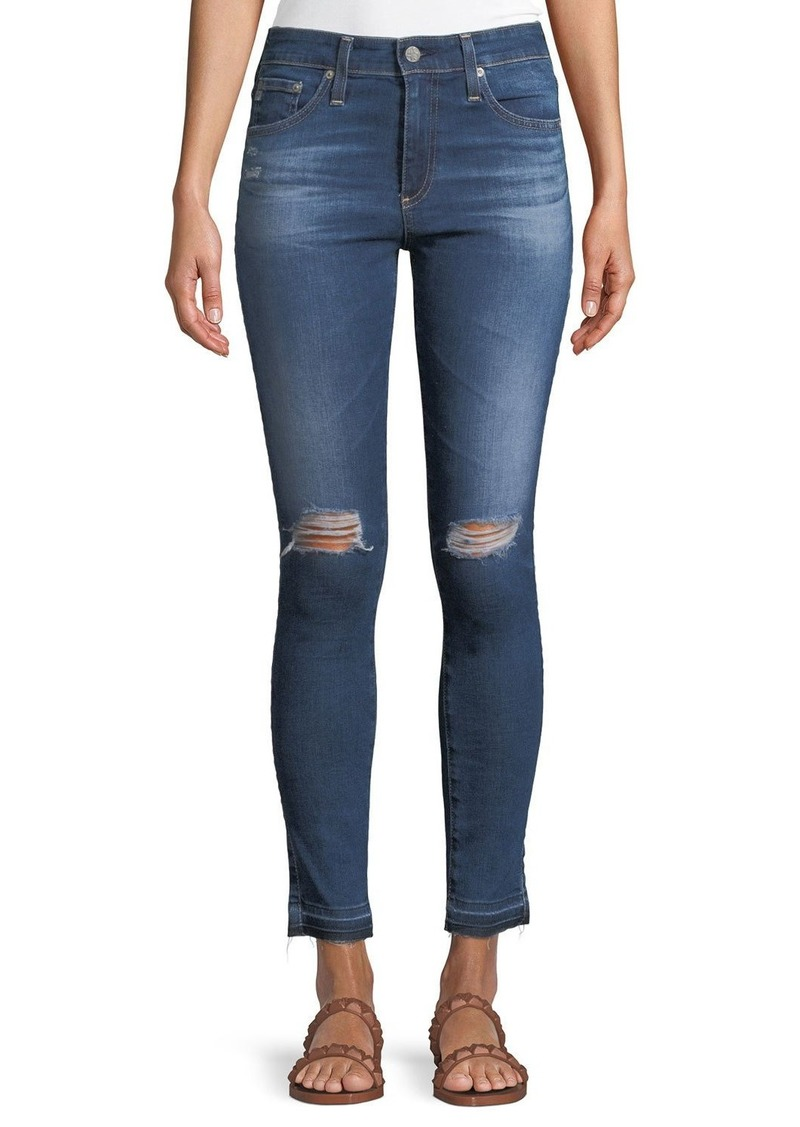 AG Adriano Goldschmied Farrah Ankle High-Rise Skinny Denim Jeans
