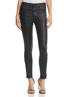 AG Farrah Coated Skinny Ankle Jeans in Super Black